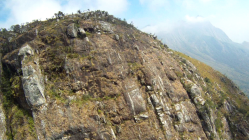 A Cliff on the Western Edge of Thuchila Valley - Chambe In the Distance